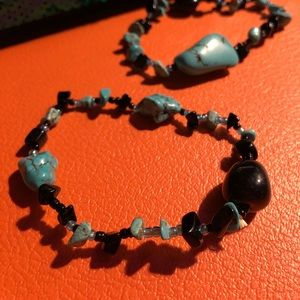 Jewelry - Set of two natural Turquoise stretch bracelets